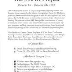 Save the Date!! The SCAR Project DC October 1-7, 2012!