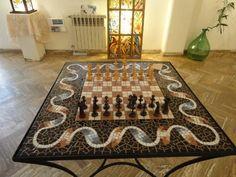 Great mosaic chess board...