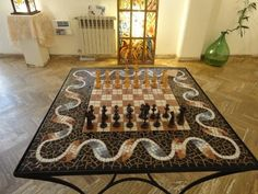 Great mosaic chess board...