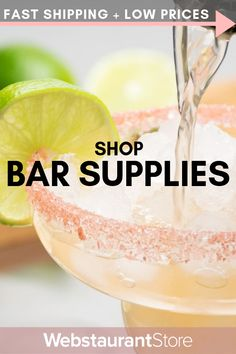 Shop our MASSIVE selection of bar accessories, supplies, & equipment to outfit your bar! FAST shipping on wholesale bar supplies at WebstaurantStore! Wine Cocktails, Cocktail Drinks, Cocktail Recipes, Alcoholic Drinks, Beverages, Dessert Drinks, Yummy Drinks, Great Recipes, Favorite Recipes
