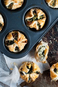 Cheese & Ricotta Puffs - a cute twist on the usual pockets, made in a muffin tin!