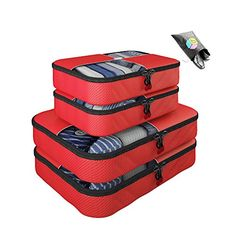 Packing Cubes -5 pc Value Set Luggage Organizer - 2 Large...