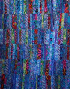 Kaffe Fassett quilt by sewshaz, pattern by Quiltology, posted at The Quilt Show