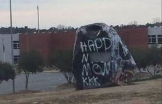 Racists Paint 'Happy N*gger Month' On Rock Outside High School, Sign It 'KKK'