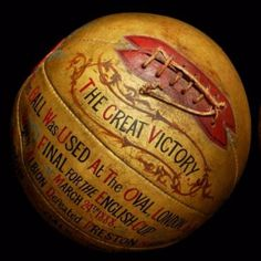 The ball used in the 1888 FA Cup final between West Brom and Preston
