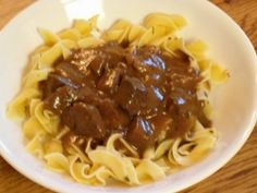 Crockpot Beef Tips & Noodles