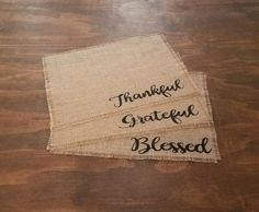 Farmhouse Placemats Fall Placemats Burlap Place Mats Rustic | Etsy Farmhouse Placemats, Thanksgiving Placemats, Rustic Thanksgiving, Thanksgiving Parties, Thanksgiving Decorations, Table Decorations, Thanksgiving Crafts, Traditional Thanksgiving Dinner, Great Housewarming Gifts