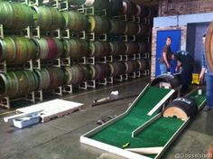 Goose Island -  Playing Mini-Golf With The Barrels for Chicago Craft Beer Week