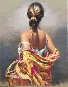 Arancil-Gelb-Schal-Pastell The post Arancil-Gelb-Schal-Pastell appeared first on Kunst und Design. Painting People, Woman Painting, Figure Painting, Figure Drawing, Acrylic Painting Tips, Portrait Art, Beautiful Paintings, Artist Art, Figurative Art