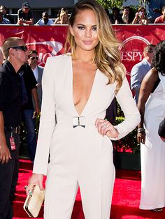 Star Tracks: Thursday, July 17, 2014 | SHE'S A HIT! | Also at the ESPYs: Sports Illustrated model Chrissy Teigen, who presented the award for best female athlete to Ronda Rousey, UFC's women's bantamweight champion.