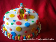 Clown/Circus Birthday Cake