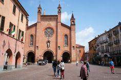 Duomo of Alba in the Langhe wine zone of Piemonte, Italy
