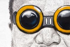 hebru brantley puts goggles on ai weiwei in miami's wynwood district