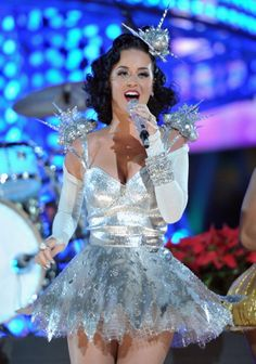 Katy Perry Hits the Big Screen Today So We Took a Look Back at 20 of Her Most Ridiculous Get-Ups: But Katy... what is this though...  at 2009 Grammy Nominations Concert.