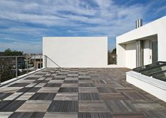 Rooftop on the Kowalewski Residence in Atlantic Beach by Belmont Freeman Architects