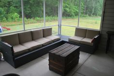 Platform Outdoor Sectional | Do It Yourself Home Projects from Ana White