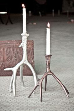 Antler Candle Holders from Earthbound Trading Co.