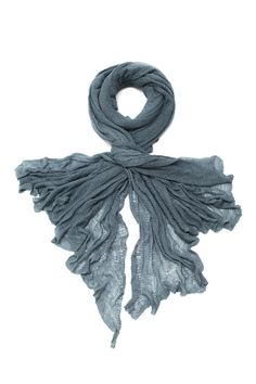 scarf shawl knitted eco friendly bamboo blue by Toosha on Etsy, $99.00