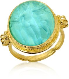 Tagliamonte Three Graces - Gold Turquoise Mother of Pearl Cameo Ring 18k Gold Jewelry, Gold Jewellery Design, Sea Glass Jewelry, Turquoise Jewelry, Stone Jewelry, Jewelry Rings, Jewelery, Cameo Jewelry, Chain Jewelry