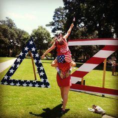 Delta Zeta at Georgia College and State University #DeltaZeta #DZ #BidDay #America #letters #sorority #GCSU