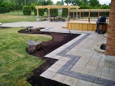 Seeking for paver patio border ideas? A garden patio enables a fantastic and receptive liveable space during the summer – or even into cold months… Backyard Walkway, Backyard Privacy, Backyard Patio Designs, Paved Backyard Ideas, Backyard Retreat, Backyard Bbq, Elite Landscaping, Front Yard Landscaping, Landscaping Ideas
