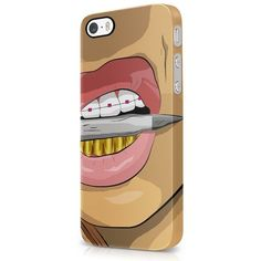 ASAP Rocky Goldie Gold Grills Trill Shit iPhone 5, iPhone 5S Hard... ($3.99) ❤ liked on Polyvore featuring accessories, tech accessories and asap