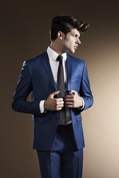 Find More Suits Information about  Men made blue suit lapel groom dress for prom groomsmen two men suit jacket + pants + tie two buttons,High Quality jacket hoddie,China jacket women Suppliers, Cheap dress short jacket from Suzhou International Garment Ltd on Aliexpress.com