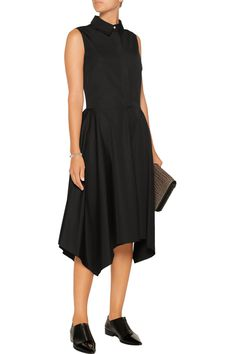 Adam LippesAsymmetric cotton-poplin midi dress