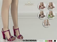The Sims Resource: Madlen Semendria Sandals by MJ95 • Sims 4 Downloads