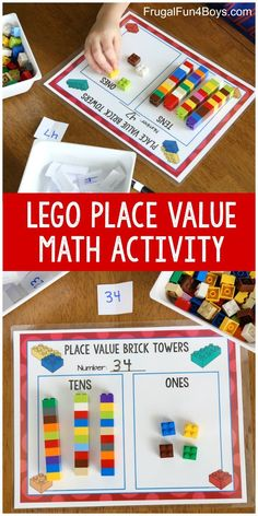 Hands-On Place Value Math Activity with Lego BricksYou can find Lego math and more on our website.Hands-On Place Value Math Activity with Lego Bricks Math Activities For Kids, Fun Math Games, Montessori Activities, Math For Kids, Place Value Activities, Educational Activities, Counting Games, Educational Websites, Small Group Activities