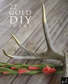22 Gold Inspired DIY Ideas #AntlerWedding #DIY