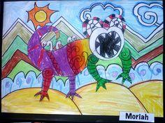 taniwha artwork primary - Google Search Art Google, Google Images, Maori Art, Dinosaur Art, South America, Art For Kids, Disney Characters, Fictional Characters, Africa