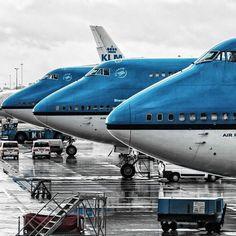 KLM B747 cockpits