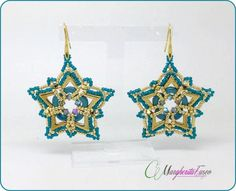 How to make Petra earrings with ava  and arcos by 75marghe75