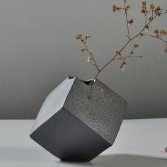 TEMPSA Vase de fleur Céramique Noir Bureau Maison Decor Noel Art TYPE 1