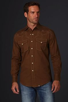 Long Sleeve Woven Shirt - 100% Cotton #CowboyUp