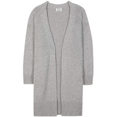 Acne Studios Sonya Wool and Cashmere Open Cardigan ($625) ❤ liked on Polyvore featuring tops, cardigans, acne, gray cardigan, gray open cardigan, acne studios, grey cardigan and gray open front cardigan