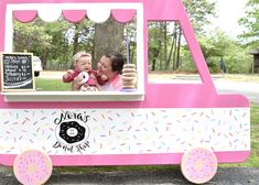 If this isn't the most adorable photo prop for a Donut Them Birthday Party, the. If this isn't the most adorable photo prop for a Donut Them Birthday Party, then I don't know 1 Year Old Birthday Party, Donut Birthday Parties, Donut Party, Birthday Party Themes, Girl Birthday, Birthday Ideas, Grown Up Parties, Party Ideas, Party Props