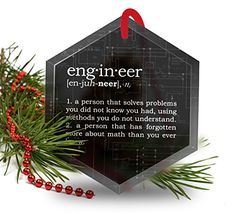 Engineer Definition Funny Glass Christmas Ornament -- Find out more about the great product at the image link.