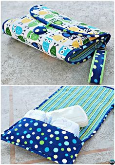 DIY Baby Changing Pad with Diaper Pocket Sew Pattern Picture Instructions