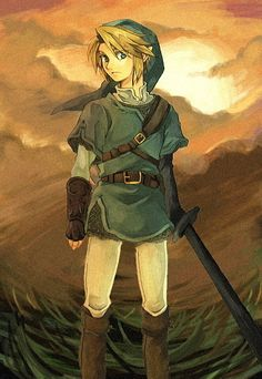 """#2 Favorite, from LoZ is Link. He has the honor of being the only Video-game character I """"fangirl"""" over (at the moment!) Also, he's the only guy I like with excessive sideburns <3"""