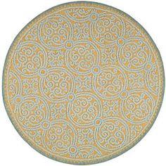 Safavieh Handmade Moroccan Cambridge Blue Wool Rug (8' Round). $286 on Overstock. LOVE