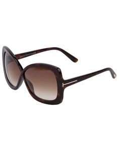d1729d1ea861 Smoky brown sunglasses from Tom Ford featuring a  jackie-o  style frame  design