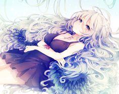 anime girl in pretty dress
