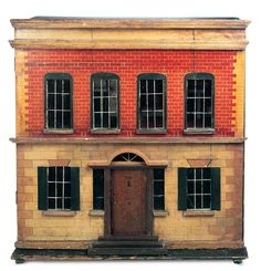 The Boys' Collection: 324.1 English Wooden Doll House in Appealing Size Attributed to Silber & Fleming
