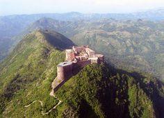 La Citadelle near Milot, Haiti. Caribbean Paradise - first Island Legacy Novel… Peru Ecuador, Chateau Medieval, Port Au Prince, Abandoned Places, Places To See, The Good Place, Travel Destinations, Beautiful Places, Scenery