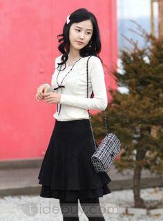 Attractive Korean Style Pleated Skirt