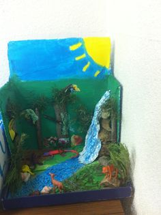 Science bioramas - biome diorama project Ecosystems Projects, Science Projects, School Projects, Projects For Kids, Art Projects, School Age Activities, Craft Activities For Kids, Science For Kids, Rainforest Ecosystem