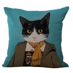 Cute Cat Family Cushion