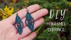 Make macrame earrings yourself (oriental) - Makramee - schmuck Macrame Earrings Tutorial, Diy Earrings, Crochet Earrings, Diy Schmuck, Schmuck Design, Macrame Knots, Macrame Bracelets, Diy Jewelry, Jewelry Making